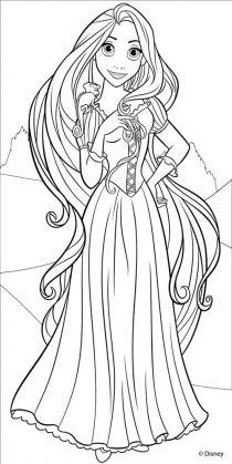 Disegni da colorare delle principesse disney on line for Immagini di rapunzel da colorare