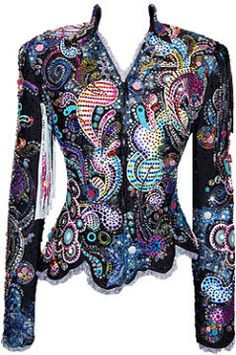 La Collezione di Anna. Such a fun colorful jacket. beaded, fitted, pretty, would look good in my closet!
