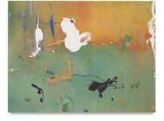 Available for sale from Miles McEnery Gallery, Helen Frankenthaler, White Joy Acrylic on canvas, 53 × 70 in Helen Frankenthaler, Museum Of Fine Arts, Museum Of Modern Art, Hirshhorn Museum, Josef Albers, Willem De Kooning, Philadelphia Museum Of Art, Colorful Paintings, Artist Art