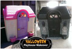 I want to make this and put it in my front yard so I can sit in there dressed up like a witch to give out candy on Halloween.