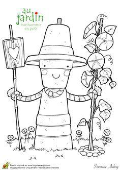 Coloriage Jardin Facile.110 Meilleures Images Du Tableau Coloriage Du Potager Crayon Art