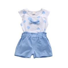 Made with the best cotton and polyester materials, this cute summer bowknot outfit is perfect for the coming seasons. Girls Summer Outfits, Summer Girls, Girl Outfits, Summer Clothes, Pilot Clothing, Clothing Sets, Girls Fashion Clothes, Girl Fashion, Kids Suits