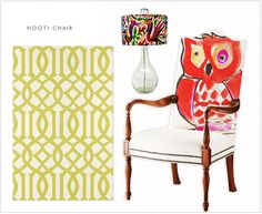 watercolor owl chair from ohhsit. Love.
