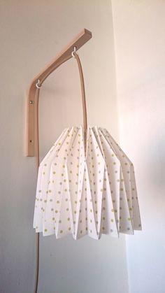 Lampe de chevet applique murale en origami
