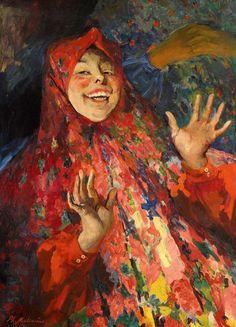 Filipp Andreevich Malyavin (1869~1940) | Impressionism, Expressionism, Art Nouveau http://www.artistsandart.org/2010/06/amazing-russian-painter-philipp.html