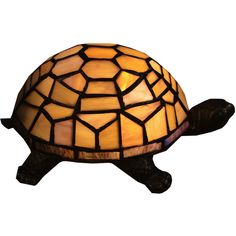 Double Tortoise Turtle Green Amber Tiffany Style Desk Crackle ...