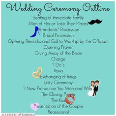 Wedding Ceremony Outline: … | Pinteres…