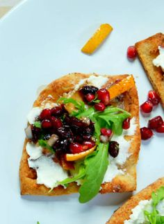 Pomegranate and Wildflower Honey Salsa Flatbread