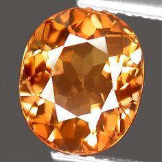 Brilliant Golden Orange Tourmaline Oval 8 x 7 MM  by SilverFound, $39.50