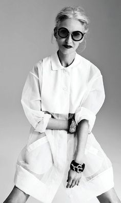 - LINDA RODIN - Photographed by Gabor Jurina. Styled by Susie Sheffman. Hair by Clelia Bergonzoli for utopianyc.com. Makeup by Akiko Sakamoto for See Management/Chanel. Manicure by Megumi Onishi. Fashion assistant, Eliza Grossman.