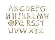 watercolor wood font