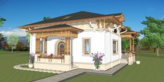 Romanian Traditional Houses – A Heartfelt Feeling Of Beauty - Houz Buzz Economic Efficiency, Design Case, Modernism, Traditional House, Countryside, Gazebo, House Plans, Exterior, Outdoor Structures