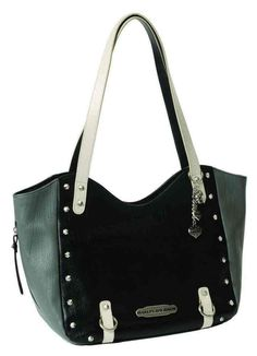 Harley-Davidson Women's Colorblocked Shopper Purse, Leather CB6305L-GRYBLK #HarleyDavidson #TotesShoppers