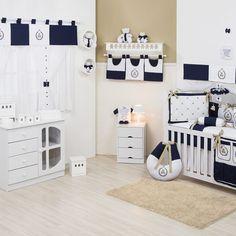 Quarto para Bebê sem Cama Babá Teddy Marinho