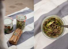Zucchini Ribbon, Quinoa, and Pesto Salad