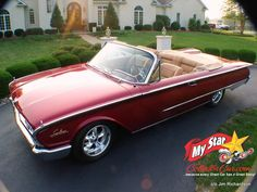 AUGUST 2020: 1960 FORD SUNLINER CUSTOM CONVERTIBLE – 'RED' IS IN GOOD HANDS Crate Engines, Car Sounds, Vintage Air, Cadillac Eldorado, Old Cars, Convertible, Perspective, Door Handles