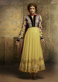 Shop Now Attractive Yellow Salwar Kameez