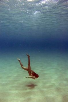 the underwater is a big space that your can swin anywhere, you wan to go.