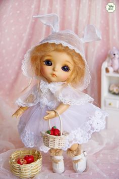 Lati Yellow/ Pukifee  Rosy Bunny Dress  White Color by YlangGarden