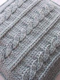"""Mijn tweede """"stoer"""" kussen is ook klaar!! Of ja, eigenlijk is het al langer klaar....... Maar het moest nog opgespannen/geblockt worden. D... Crochet Cable, Manta Crochet, Tunisian Crochet, Crochet Home, Diy Crochet, Crochet Poncho, Poncho Knitting Patterns, Knitting Stitches, Hand Knitting"""