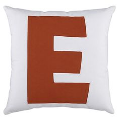 """Letter """"E"""" Pillow from Land of Nod"""