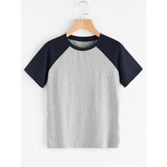 To find out about the Contrast Raglan Sleeve Heathered Tee at SHEIN, part of our latest T-Shirts ready to shop online today! Casual T Shirts, Cool T Shirts, Tee Shirts, Tees, Shirt Print Design, Shirt Designs, Latest T Shirt, Sweater Shirt, Fashion Outfits