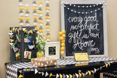 a&e living: Baby Shower {Gray and Yellow}