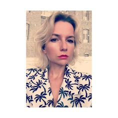 Selfie time. Palm tree print jacket.