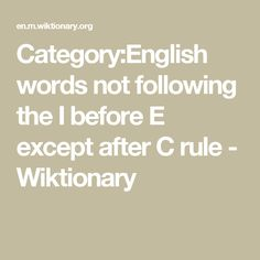 Examples of a compound verb google search english spelling categoryenglish words not following the i before e except after c rule wiktionary sciox Image collections