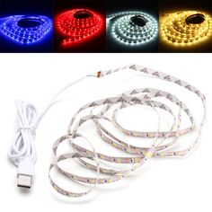 Delicious Waterproof Usb Rgb Led Soft Strip Light Background Backlight For Computer Tv Hot Computer Cables & Connectors