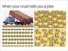 Funny Memes - View our collection of the web's funniest memes - submitted by users. Our list has the All-Time Greats and the funniest memes generated just today. Crush Humor, Crush Memes, Crush Quotes, Crush Funny, Michael Jackson, Bts Memes, Funny Images, Funny Pictures, When Your Crush