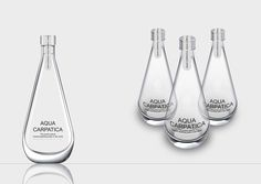 Aqua Carpatica - The Perfect Bottle for The Perfect Water: by Formatron Water Packaging, Cool Packaging, Food Packaging Design, Bottle Packaging, Packaging Design Inspiration, Plastic Bottle Design, Water Bottle Design, Glass Water Bottle, Alcohol Bottles