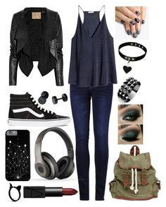 """""""Never Always"""" by puppydog28 ❤ liked on Polyvore featuring 2LUV, H&M, Max Azria, Vans, Wet Seal, Beats by Dr. Dre, Waterford, NARS Cosmetics and alfa.K"""