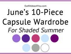 June's Capsule Wardrobe For Soft Summer Deep (Shaded Summer)