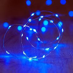 Okcolorfal Fairy Indoor String Lights AA Battery Powered Decoration Lights 2m Silver Coated Copper Wire Flexible String 20 Micro LED - Blue-  *** Wow! I love this. Check it out now! : Christmas Decorations