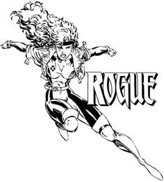 marvel rogue coloring pages - Marvel Coloring Pages