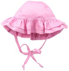 Amazon.com: Flap Happy Baby Girls' Upf 50+ Double Ruffle Hats, Candy Pink, X Small: Clothing