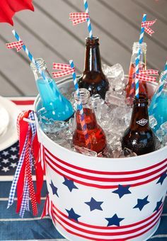 Independence Day drink bucket.