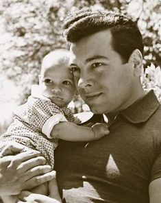 Mario Lanza and his son Damon. I wish this man was still alive...he's my absolute favorite tenor of all time!  You guys have NO idea...
