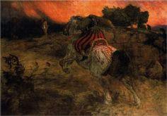Astolf rides away with his head lost, ca. 1873 - Arnold Böcklin