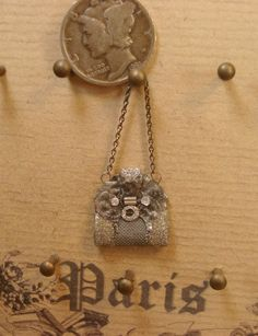 Miniature 112 jeweled Mesh Evening Bag by heirloomsbysusanh