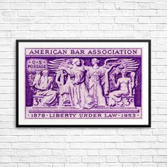 American Bar Association Liberty Under Law lawyer by USAStampArt Law Office Decor, American Bar Association, Poster Size Prints, Art Prints, Lawyer Gifts, Historical Art, Pigment Ink, Liberty, Stamp