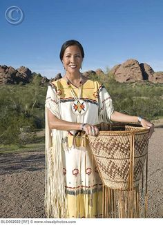 Original Of A Beautiful Native American Young Woman In A Traditional Clothing