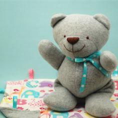 Baby Bear and Blankie pattern by Abby Glassenberg