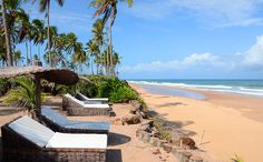 Butterfly House beach and loungers, Souther Bahia and Trancoso, Brazil
