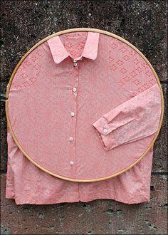 Hooped Shirt Display as Visual Merchandising