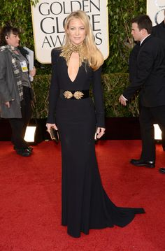 Kate Hudson in Alexander McQueen, Golden Globes 2013. #promagain #consignment #resale #cheap #prom #formal #dresses