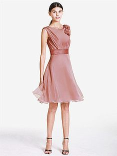 Simple Chiffon Strapless Bridesmaid Dress with a Bow Belt | Plus and Petite sizes available! Hundreds of styles, tons of colors!