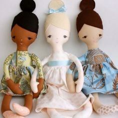 DIY rag dolls from etsy. Love this pattern!!
