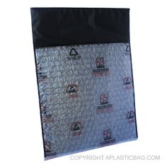 #Conductive Two Layer Tuck #FlapPouch - Two layer tuck flap, carbon based film; cushion pouch. Static Dissipative protection, faraday cage effect. #antistatic #bubblebag #recloseable #barrier #conductive #antistaticpolybags